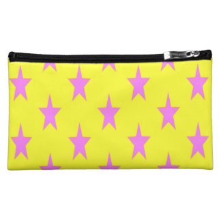 yellow and pink starcolors Medium Cosmetic Bag