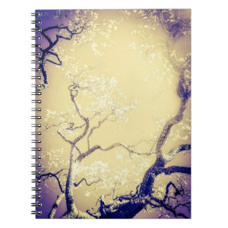 Yellow and Pur Tree Notebook