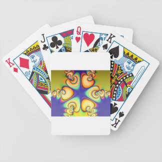 Yellow And Purple fractal Bicycle Playing Cards