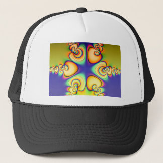 Yellow And Purple fractal Trucker Hat