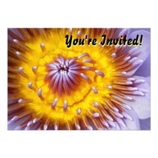 Yellow and Purple Lily Flower Closeup Custom Invite