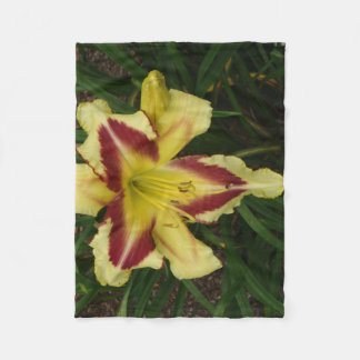 Yellow and Purple Lily Throw Fleece Blanket