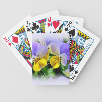 Yellow and Purple Pansies Bicycle Playing Cards