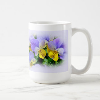 Yellow and Purple Pansies Coffee Mug