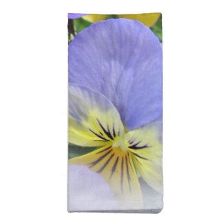 Yellow and Purple Pansies Napkin