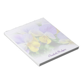 Yellow and Purple Pansies Notepad