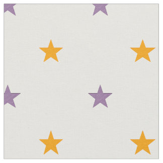 Yellow and purple stars fabric