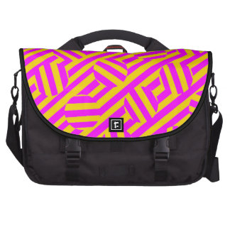 Yellow and purple stripes and circles Bags Bag For Laptop