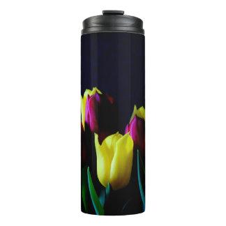 Yellow and Purple Tulips Thermal Tumbler