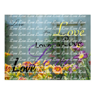 Yellow and Purple Wedding Flowers Postcard