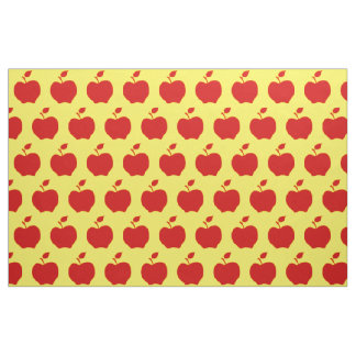 Yellow and Red Apples Fabric