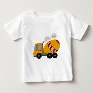 Yellow and red concrete mixer baby T-Shirt