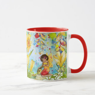 Yellow and Red Fairy Tale Coffee Mug