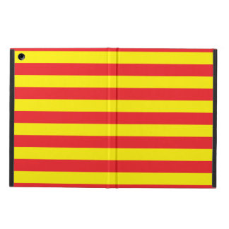 Yellow and Red Horizontal Stripes iPad Air Case