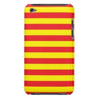 Yellow and Red Horizontal Stripes iPod Touch Cover
