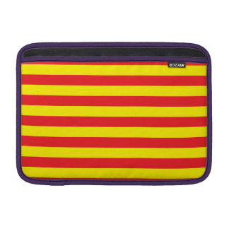 Yellow and Red Horizontal Stripes MacBook Sleeve