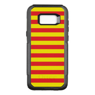 Yellow and Red Horizontal Stripes OtterBox Commuter Samsung Galaxy S8+ Case