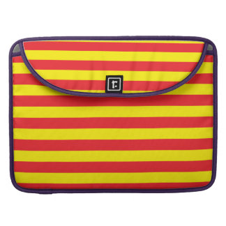 Yellow and Red Horizontal Stripes Sleeve For MacBooks