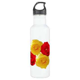 Yellow and Red Roses 710 Ml Water Bottle