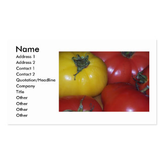 Yellow and Red Tomato Business Card