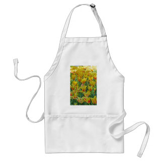 Yellow And Red Tulips... Adult Apron