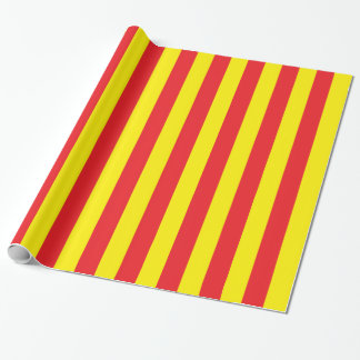 Yellow and Red Vertical Stripes