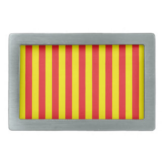 Yellow and Red Vertical Stripes Belt Buckles