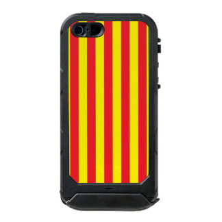Yellow and Red Vertical Stripes Incipio ATLAS ID™ iPhone 5 Case