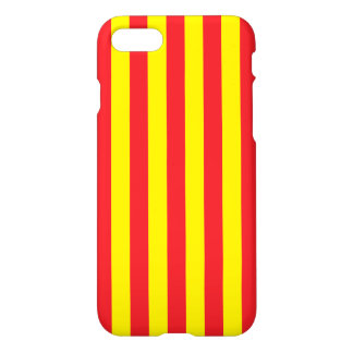 Yellow and Red Vertical Stripes iPhone 7 Case