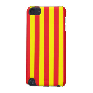 Yellow and Red Vertical Stripes iPod Touch 5G Cases