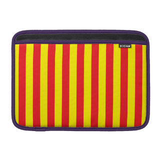 Yellow and Red Vertical Stripes MacBook Sleeve