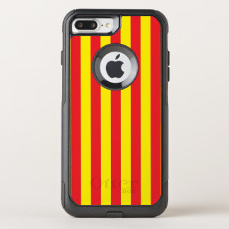 Yellow and Red Vertical Stripes OtterBox Commuter iPhone 8 Plus/7 Plus Case
