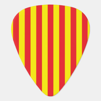 Yellow and Red Vertical Stripes Plectrum