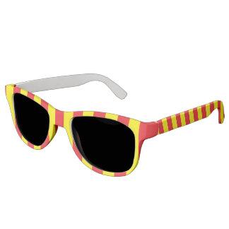 Yellow and Red Vertical Stripes Sunglasses