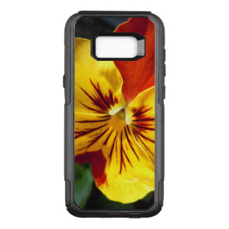 Yellow and Rusty Red Pansy OtterBox Commuter Samsung Galaxy S8+ Case