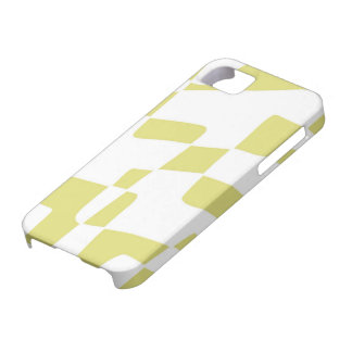 Yellow and White Abstract Minimalist Squares iPhone 5 Cover