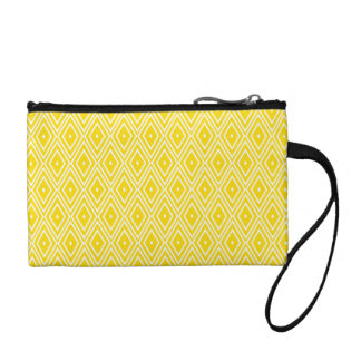 Yellow and White Diamonds Coin Wallet