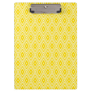 Yellow and White Diamonds Clipboards