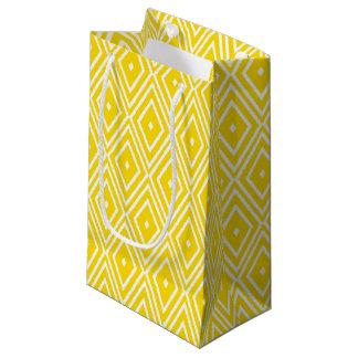 Yellow and White Diamonds Small Gift Bag