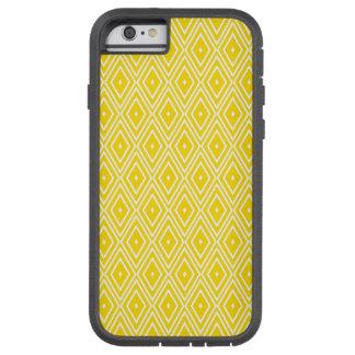 Yellow and White Diamonds Tough Xtreme iPhone 6 Case