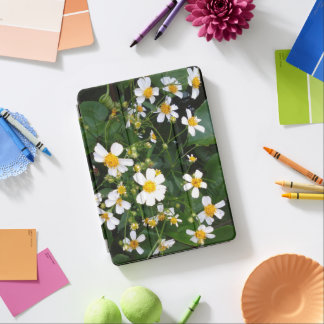 YELLOW AND WHITE FLOWERS iPad AIR COVER