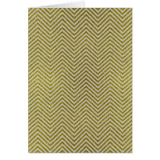 Yellow and White Glitter Zig Zag Card