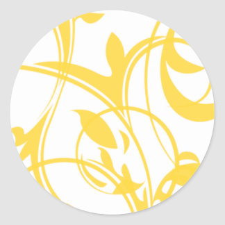 Yellow And White Invitation Seals Round Sticker