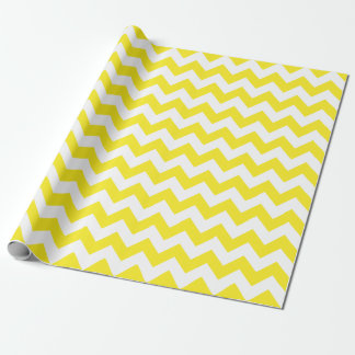 Yellow and White Large Chevron Wrapping Paper