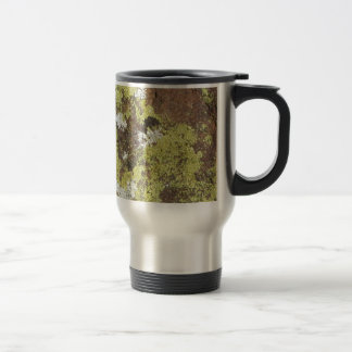 Yellow and White Lichen on Sandstone Natural Camo 15 Oz Stainless Steel Travel Mug