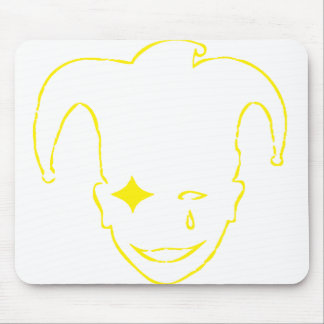 Yellow and White MTJ Mouse Pad