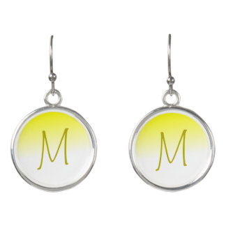 Yellow and White Ombre Brand New Horizon Earrings