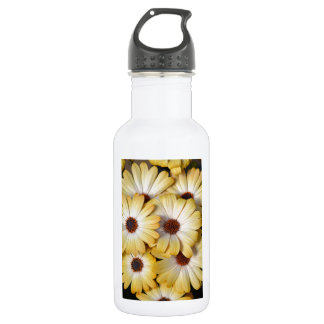 Yellow and white osteospermum flowers 532 ml water bottle