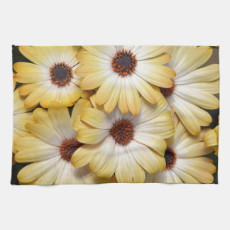 Yellow and white osteospermum flowers tea towels