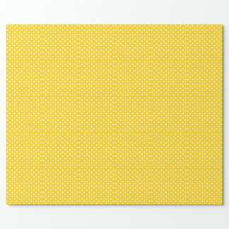 Yellow and White Polka-Dot Wrapping Paper